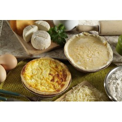 Quiche 3 fromages crue