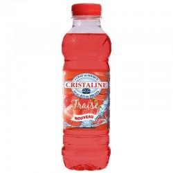 Eau Cristaline fraise 50 cl - Pack de 24 bouteilles