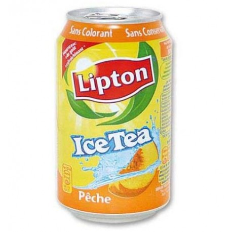 Lipton ice tea Pêche 33cl (pack de 24 canettes)