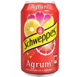 Schweppes Agrum 33cl (pack de 24 canettes)