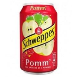 Schweppes Pomme 33cl (pack de 24 canettes)