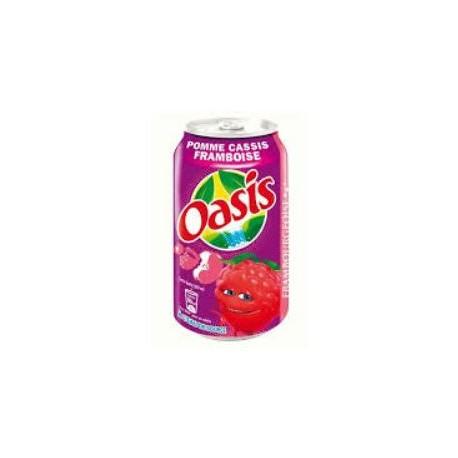 Oasis Pomme cassis framboise 33cl (pack de 24 canettes)